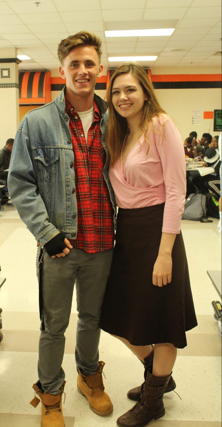 Evan Riss and Alyriana Ivey (1980's Breakfast Club)