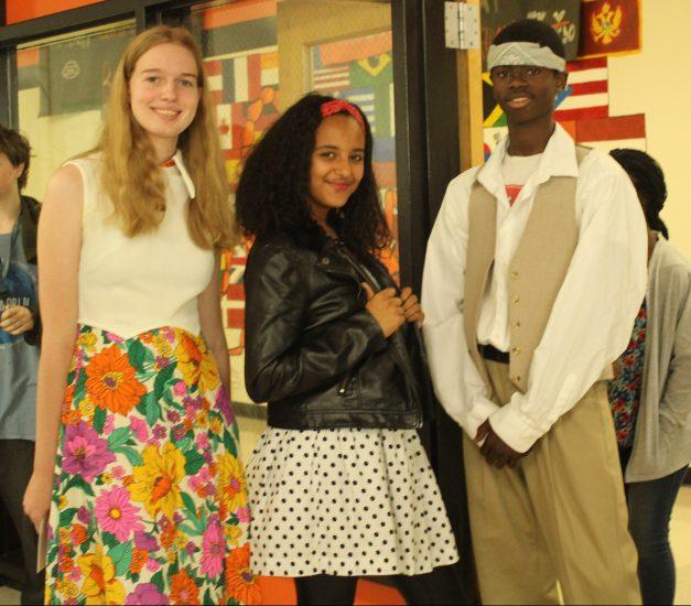 Lizzie Feurbach, Sumaya Elkashif, and Amari Jangha